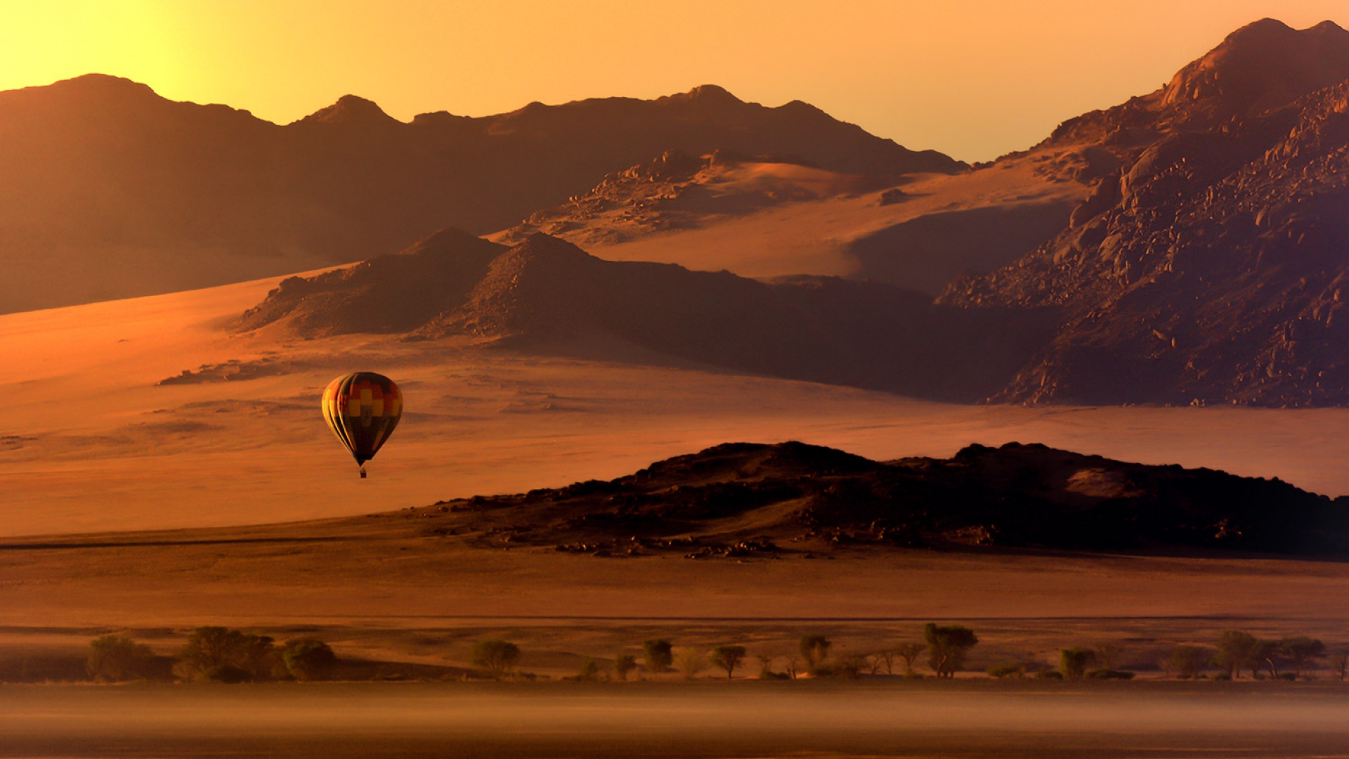 Vol en montgolfière Namibie