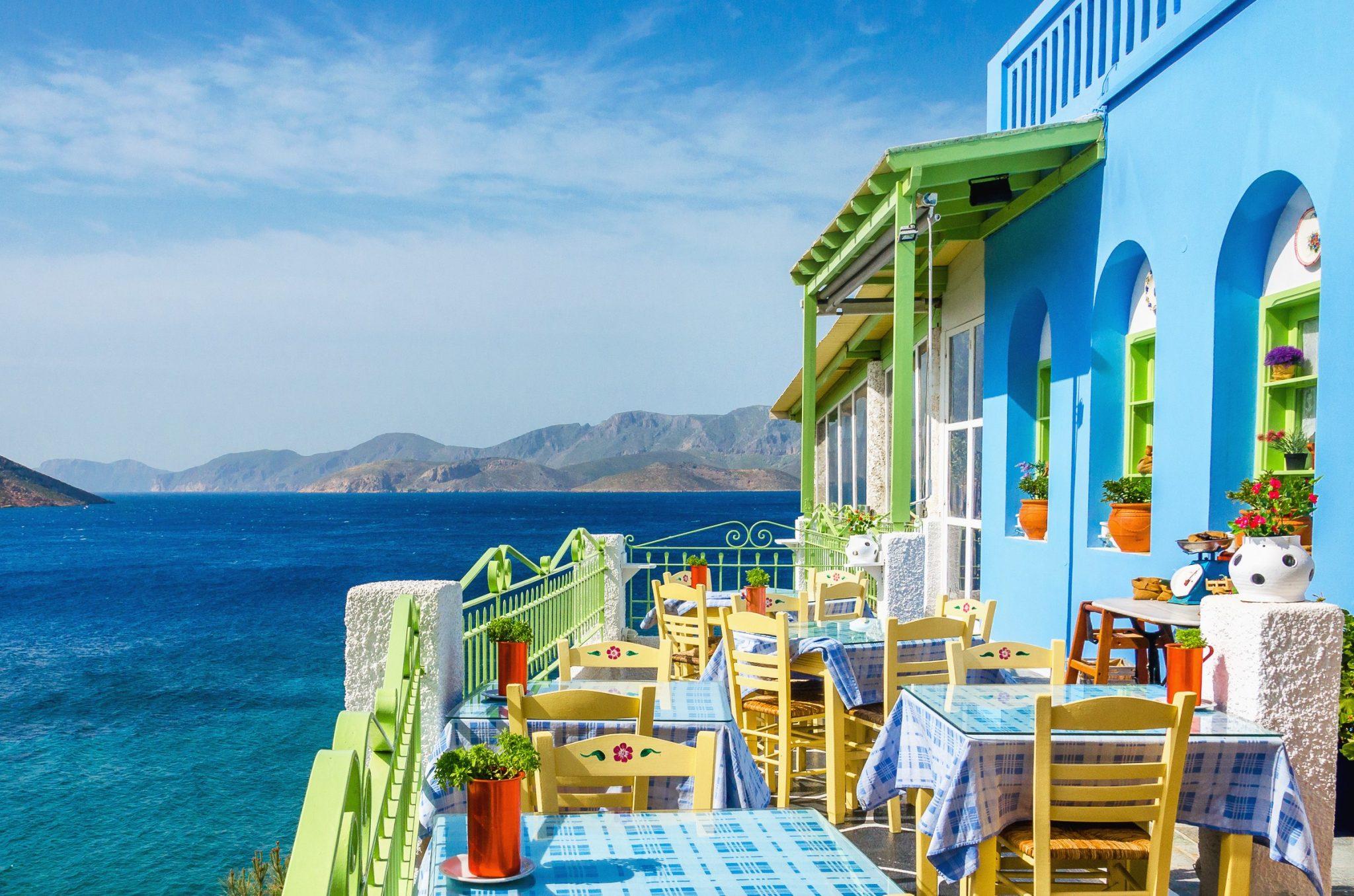Restaurant Grecque Typique à Mykonos en Grèce
