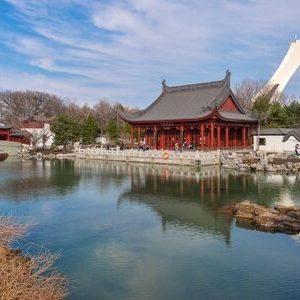 Visite du parc olympique de Pékin