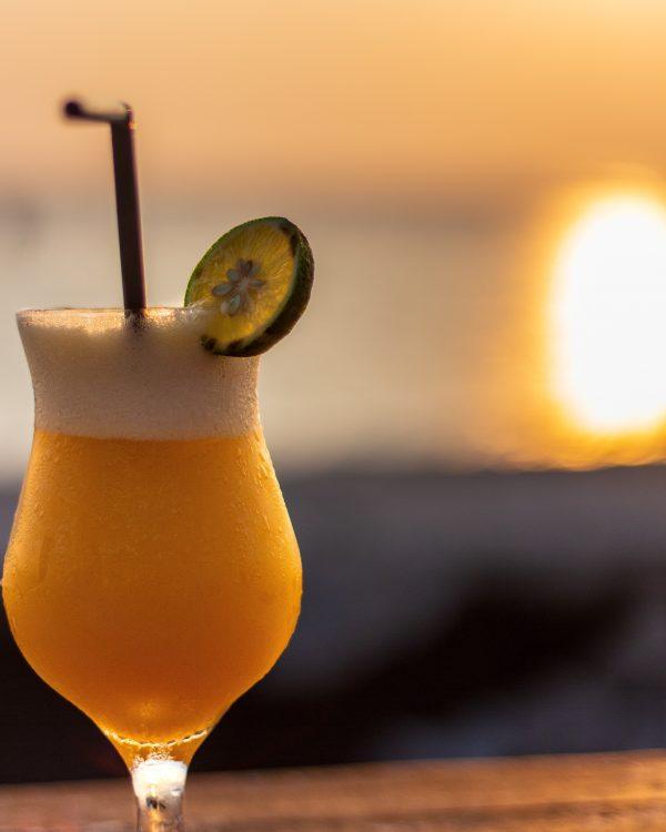 Un cocktail sur le cataraman