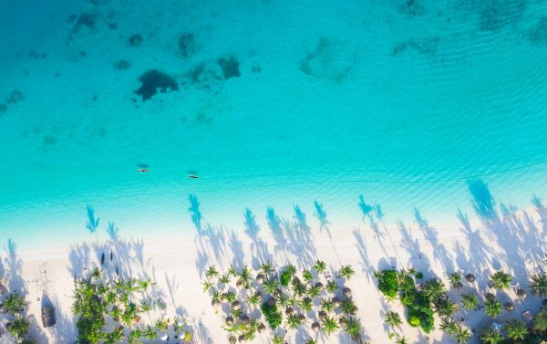 plage de sable blond zanzibar