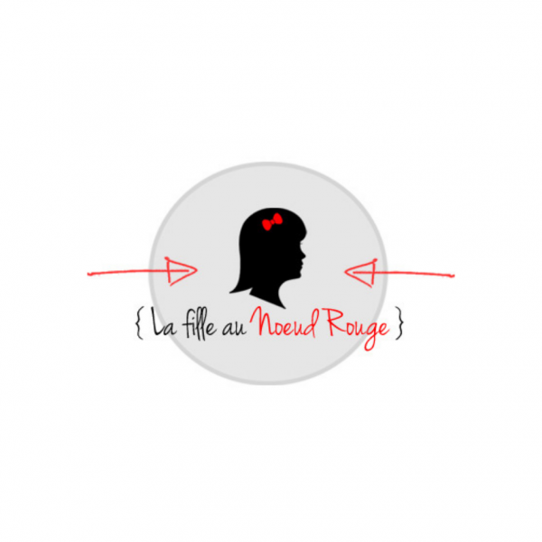 Logo la fille au noeud rouge
