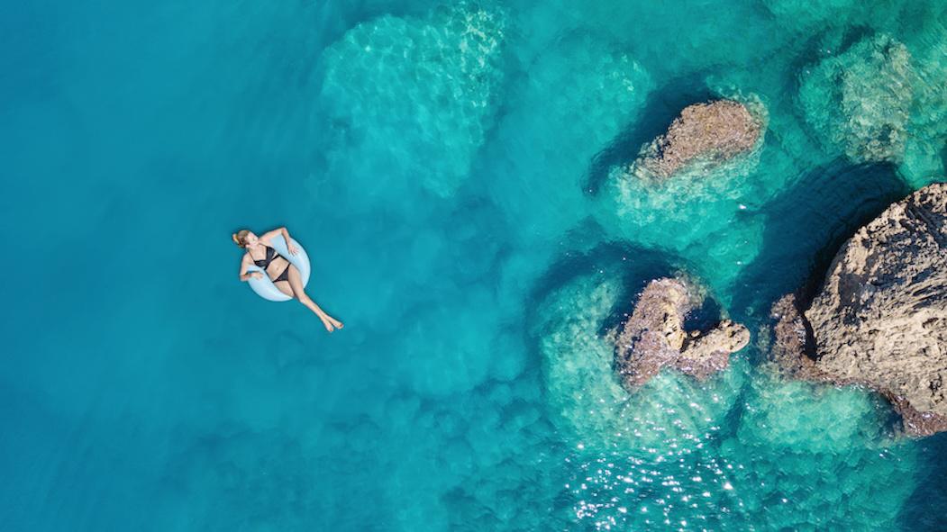 détente sur le lagon Maldivien