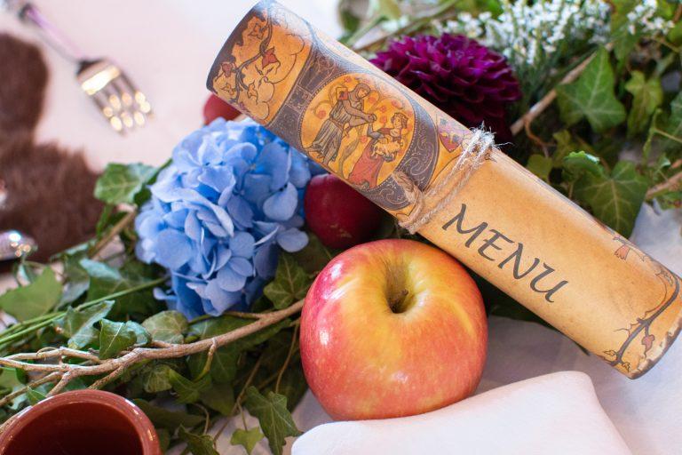 menu mariage médiéval