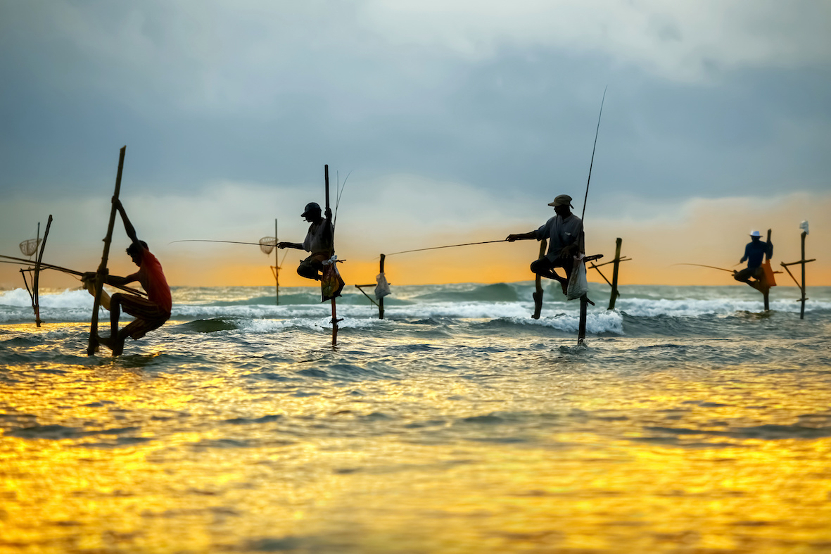 pêcheurs traditionnels du sri lanka