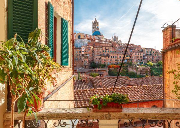 Cathédrale de Sienne et vue toscane