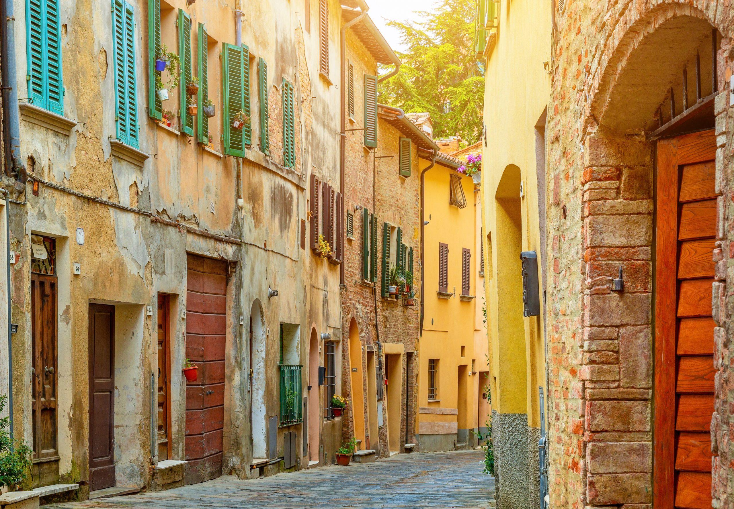vieille ville dans la région Toscane