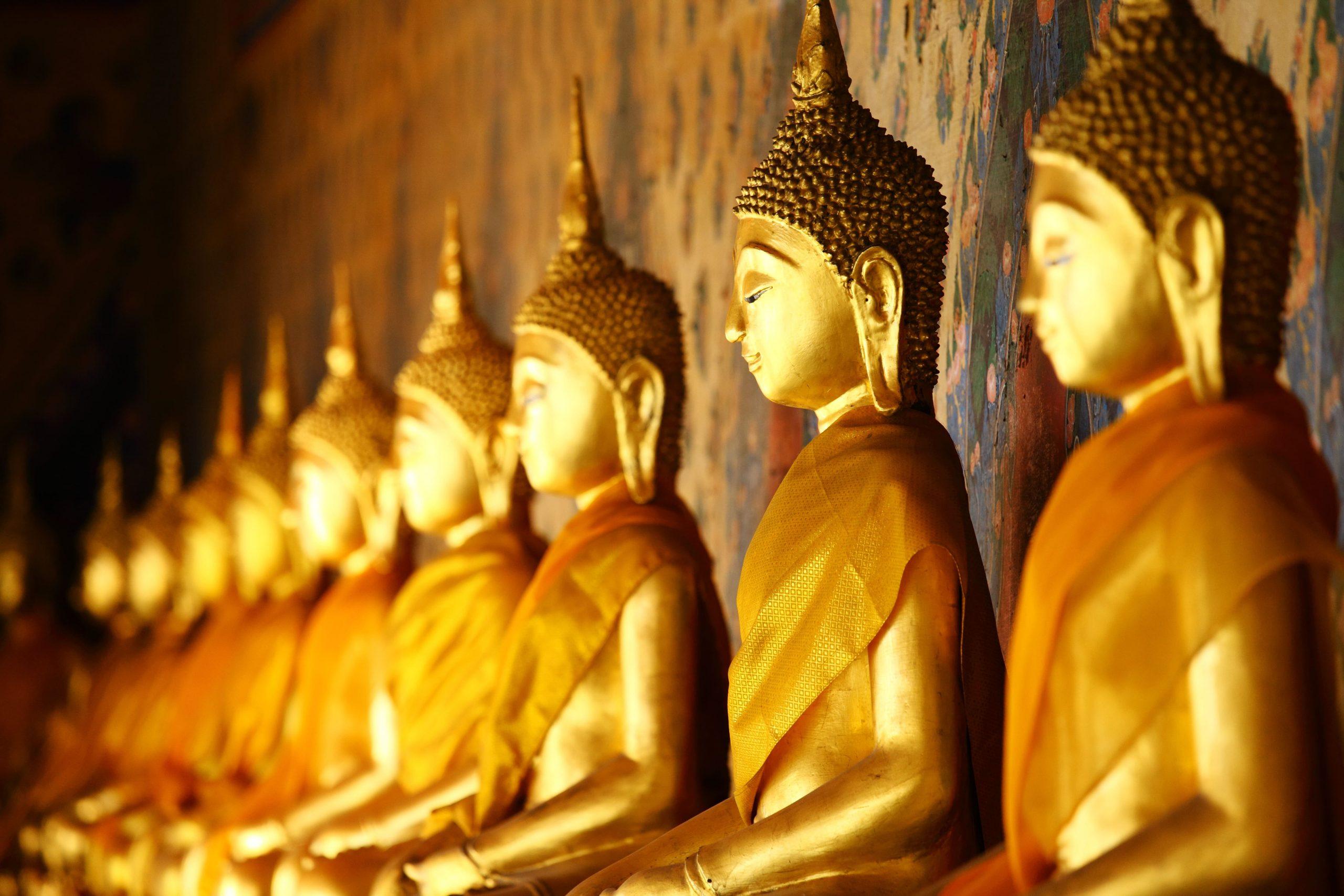 bouddha dorés Thaïlande