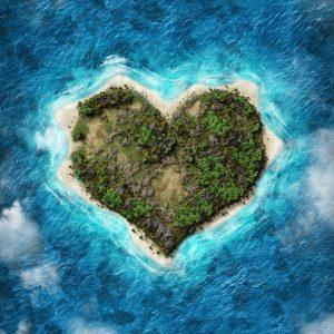 Un vol panoramique au dessus de Heart Island
