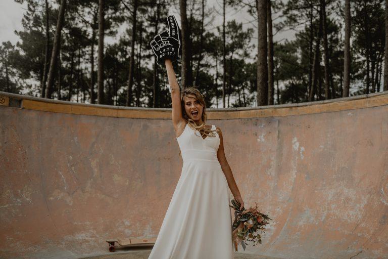 mariage thème skate