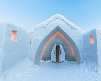 igloo en glace - arctic snowhotel & glass igloos