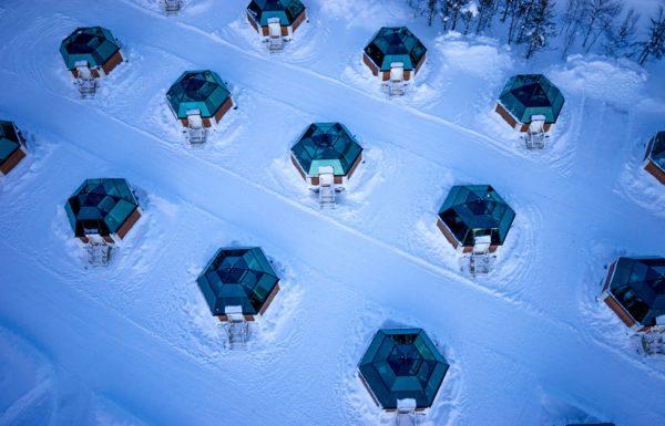 les igloos en verre - arctic snowhotel & glass igloos