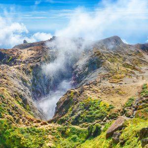 La soufrière volcan