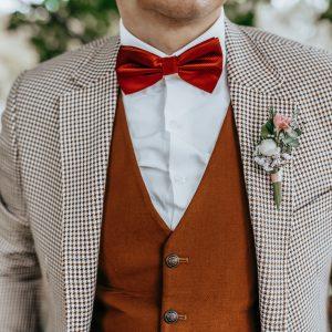 costume mariage original, couleur, carreaux