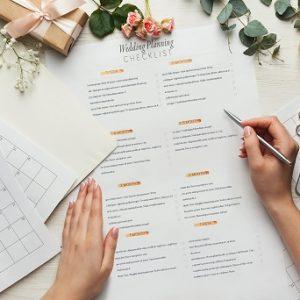 papier pour organiser votre mariage
