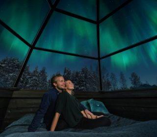 aurores boréales - arctic snowhotel & glass igloos