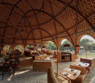 espace commun wild coast tented lodge