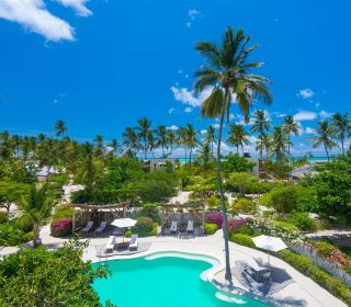 vue du domaine du white sand luxury villas & spa à Zanzibar