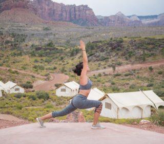 yoga under canvas zion